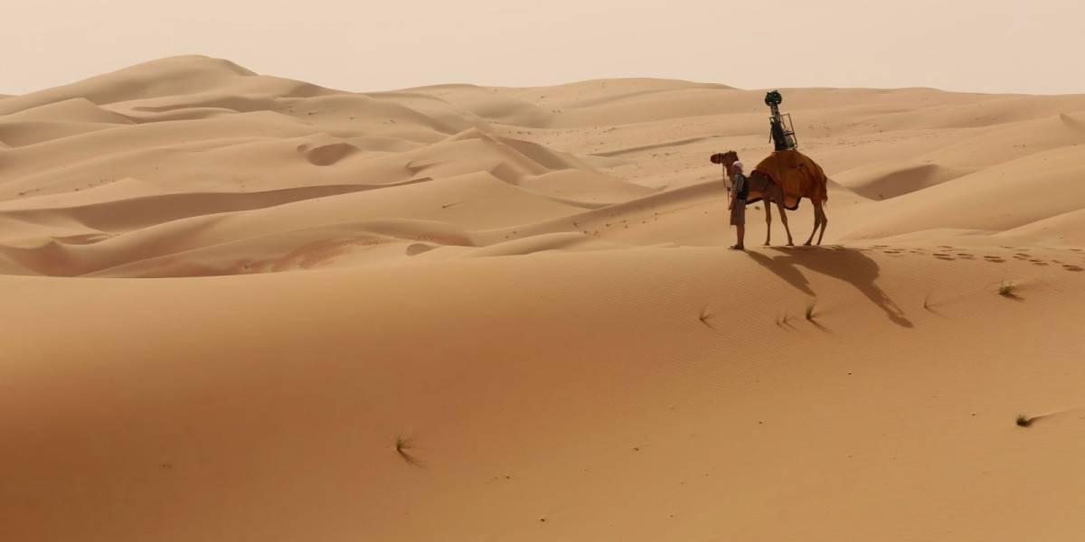 El desierto de Abu Dhabi está en Google Maps gracias a un camello