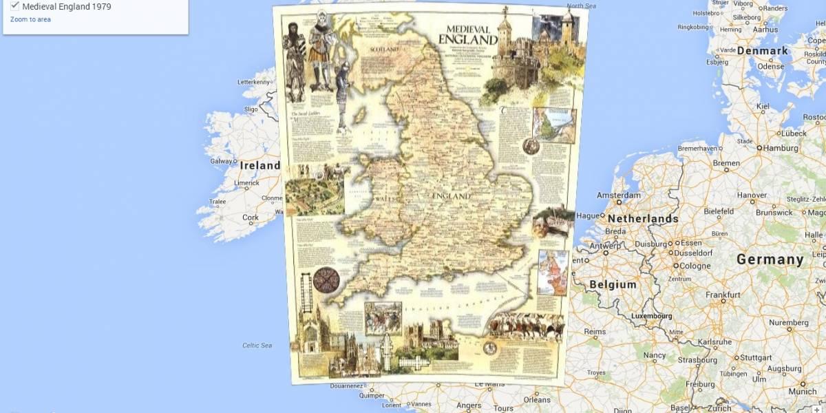 National Geographic llega con sus mapas históricos a Google Maps