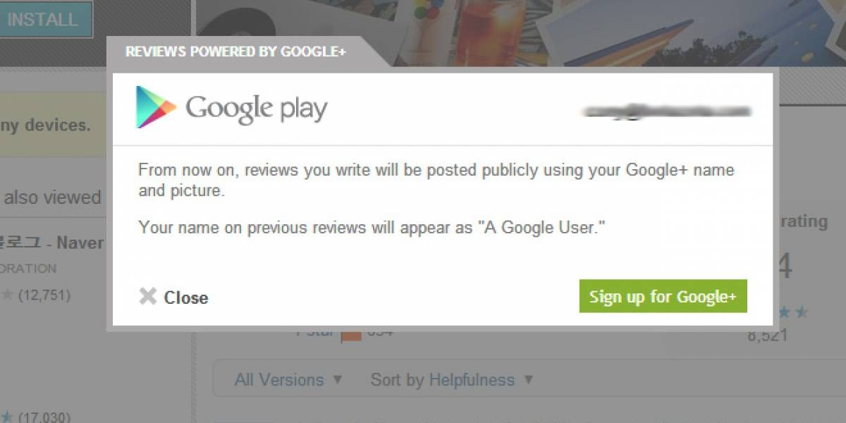 Google Play ahora está unido a Google+