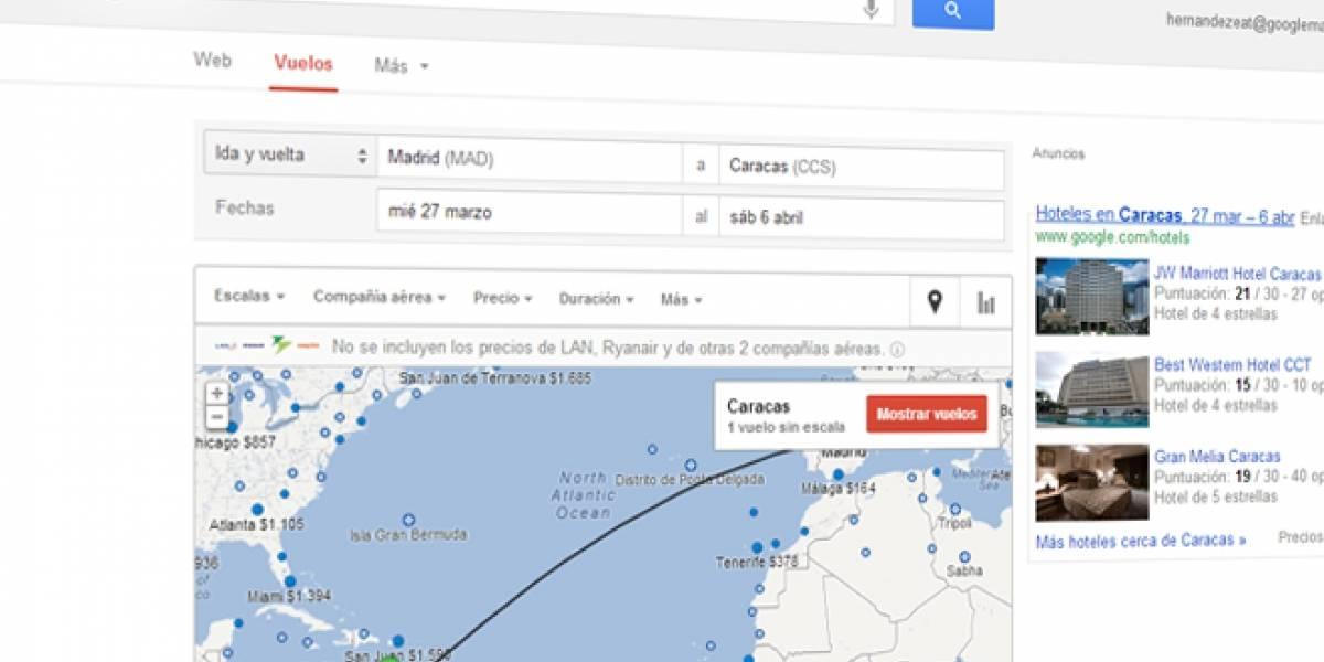 Flight Search, el buscador de vuelos de Google, ya funciona en España