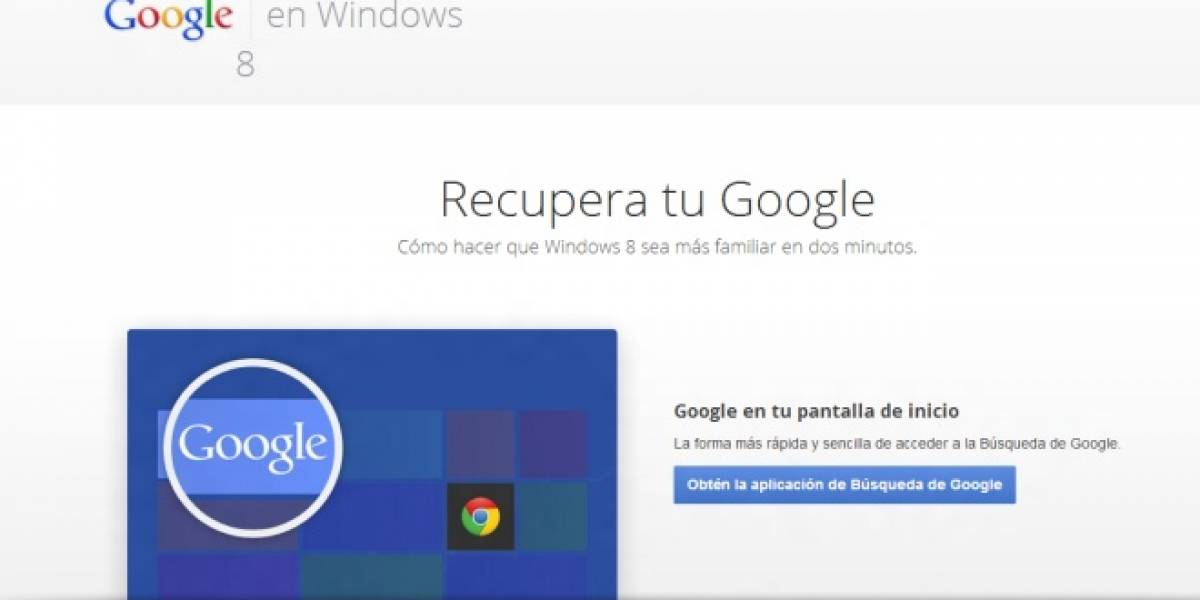 Google te enseña a recuperar tu Google en Windows 8