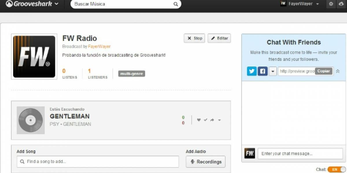 Grooveshark agrega función para crear tu propia radio vía streaming