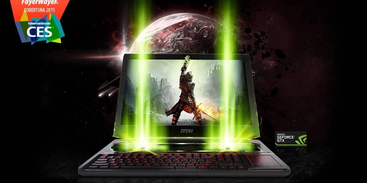 MSI lanza la GT80 Titan SLI, una poderosa laptop orientada a gamers #CES2015
