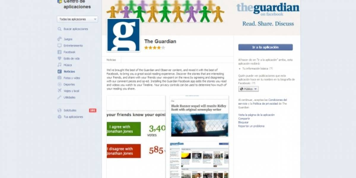 The Guardian elimina su lector social de noticias en Facebook