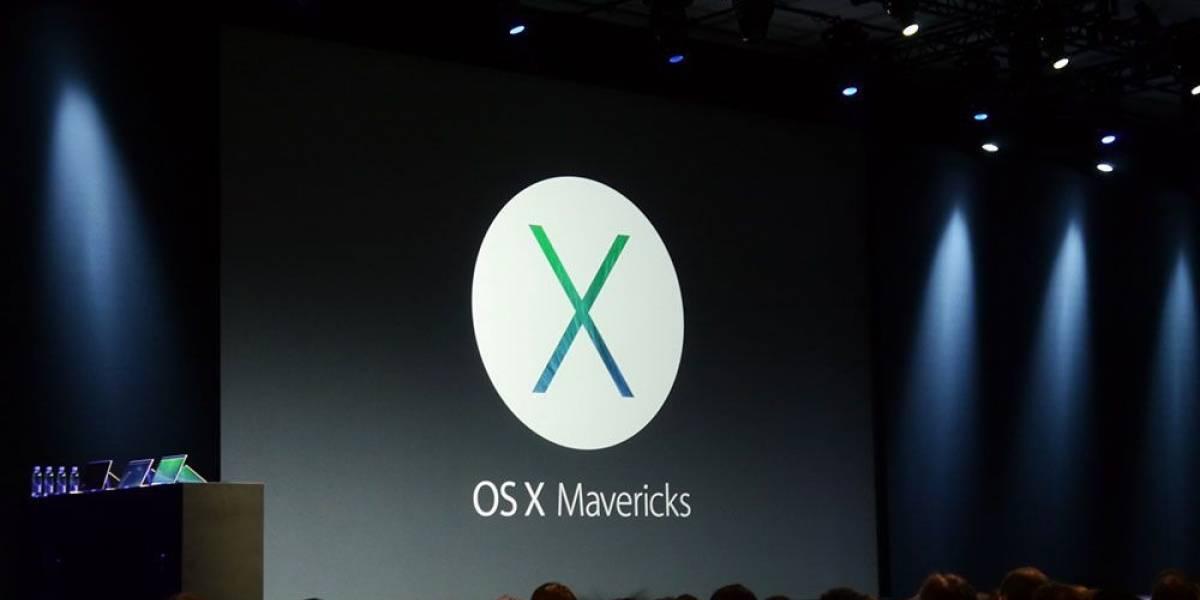 """Apple lanza nuevo OS X y se llama """"Mavericks"""" #WWDC13"""