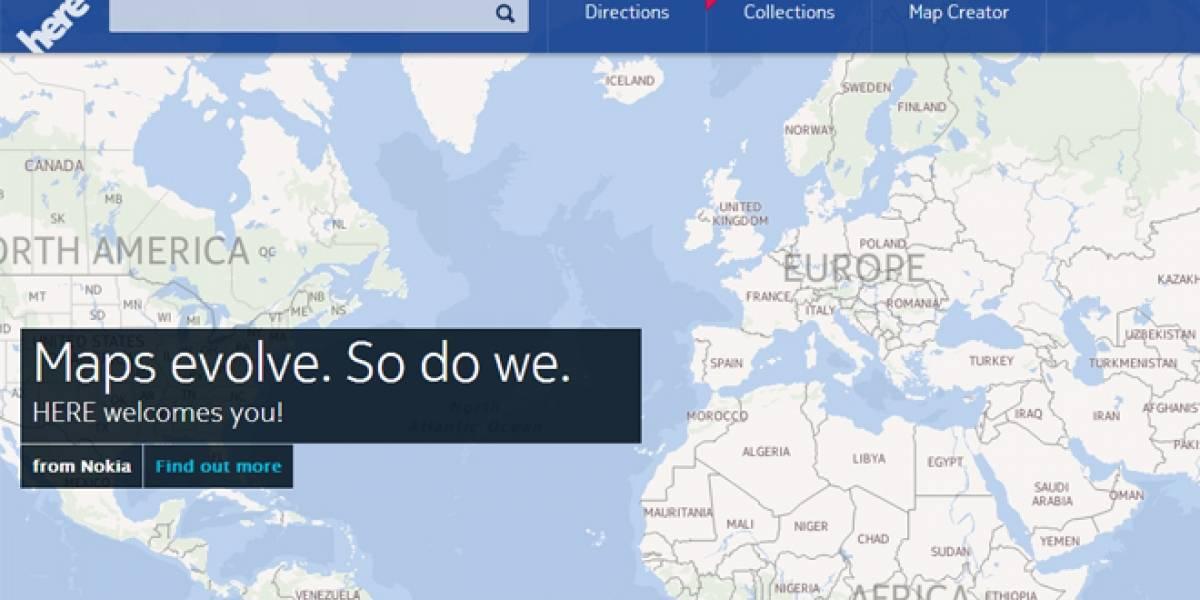 """Nokia renueva sus mapas, ahora se llaman simplemente """"Here"""""""
