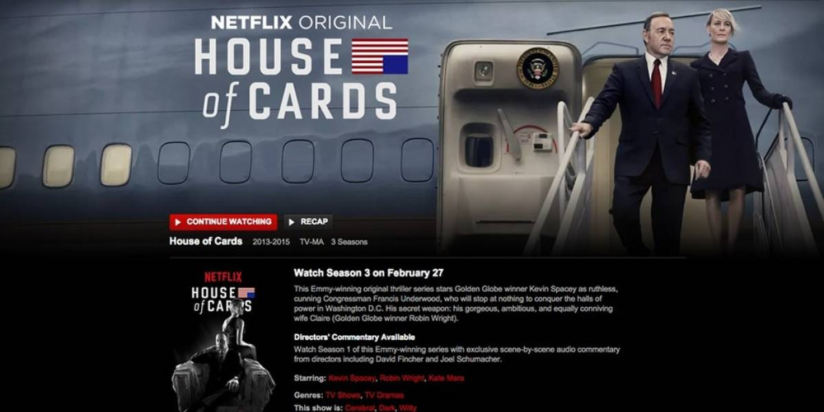 Netflix estrenó por error la tercera temporada de House of Cards