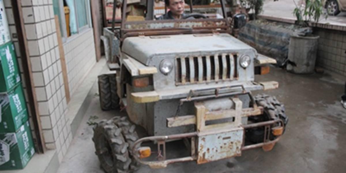 Chino construye su propio (y pequeño) Hummer por sólo US$ 600