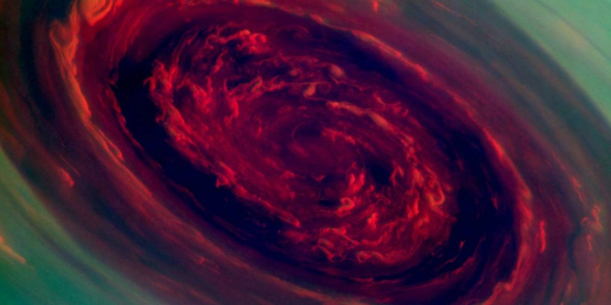 Imperdible: Huracán gigante en Saturno