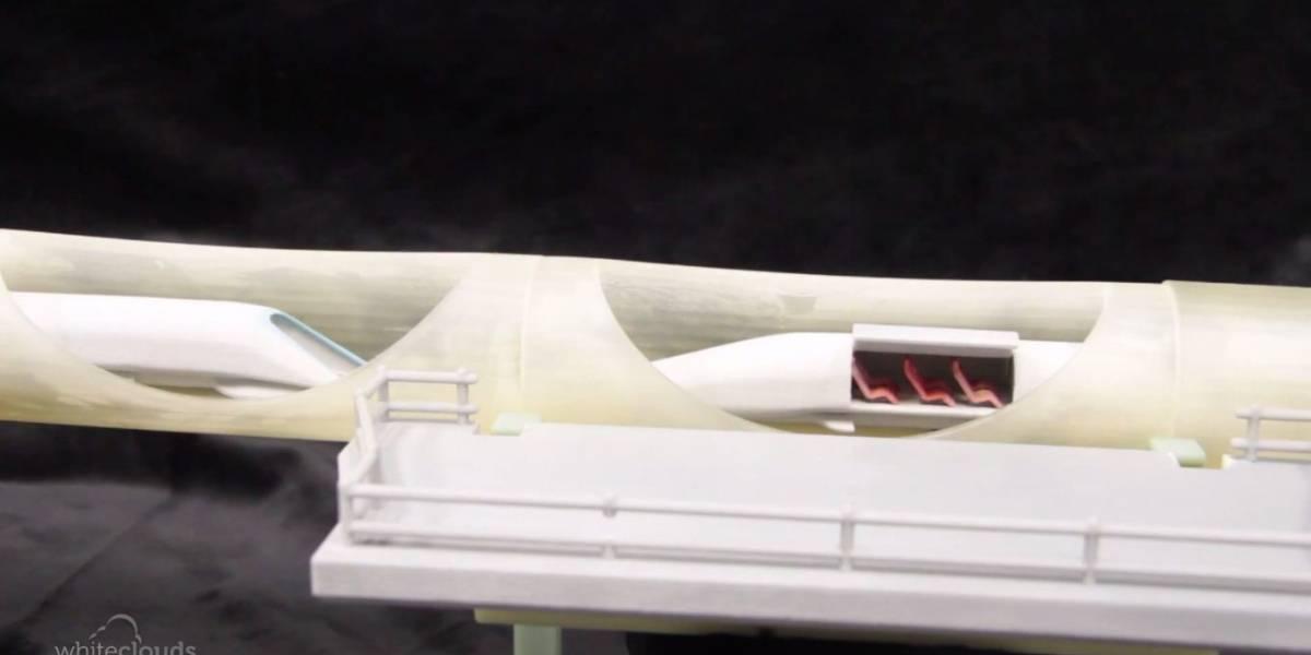 Crean réplica a escala del Hyperloop con impresora 3D