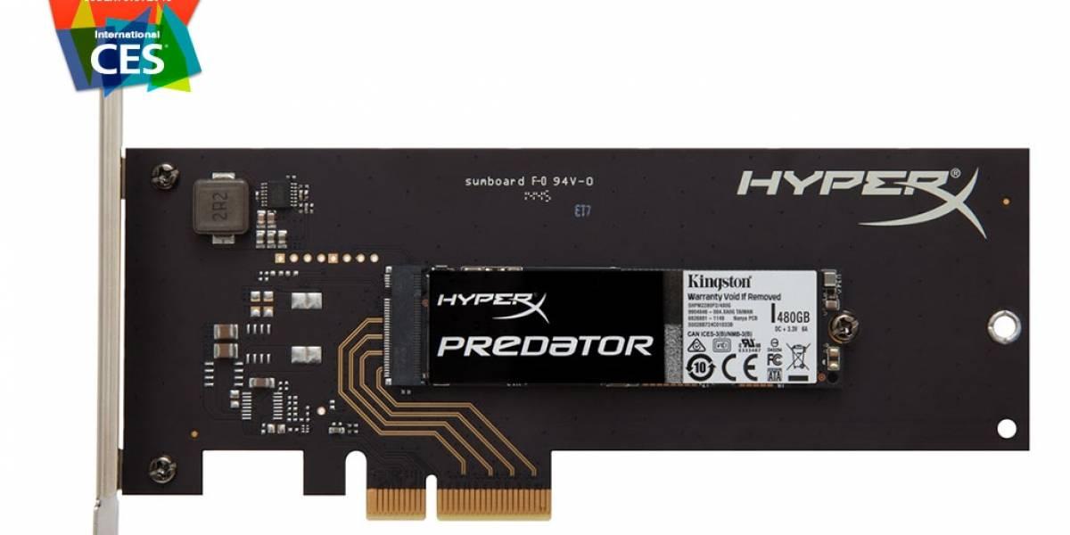 Kingston anuncia su disco HyperX Predator SSD PCIe #CES2015