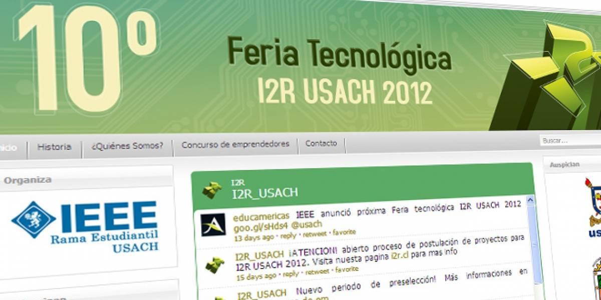 Chile: Participa en el concurso de emprendedores de la feria tecnológica I2R de la USACH