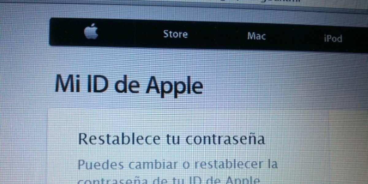 Vulnerabilidad permite cambiar la contraseña de Apple solo con el e-mail y la fecha de nacimiento