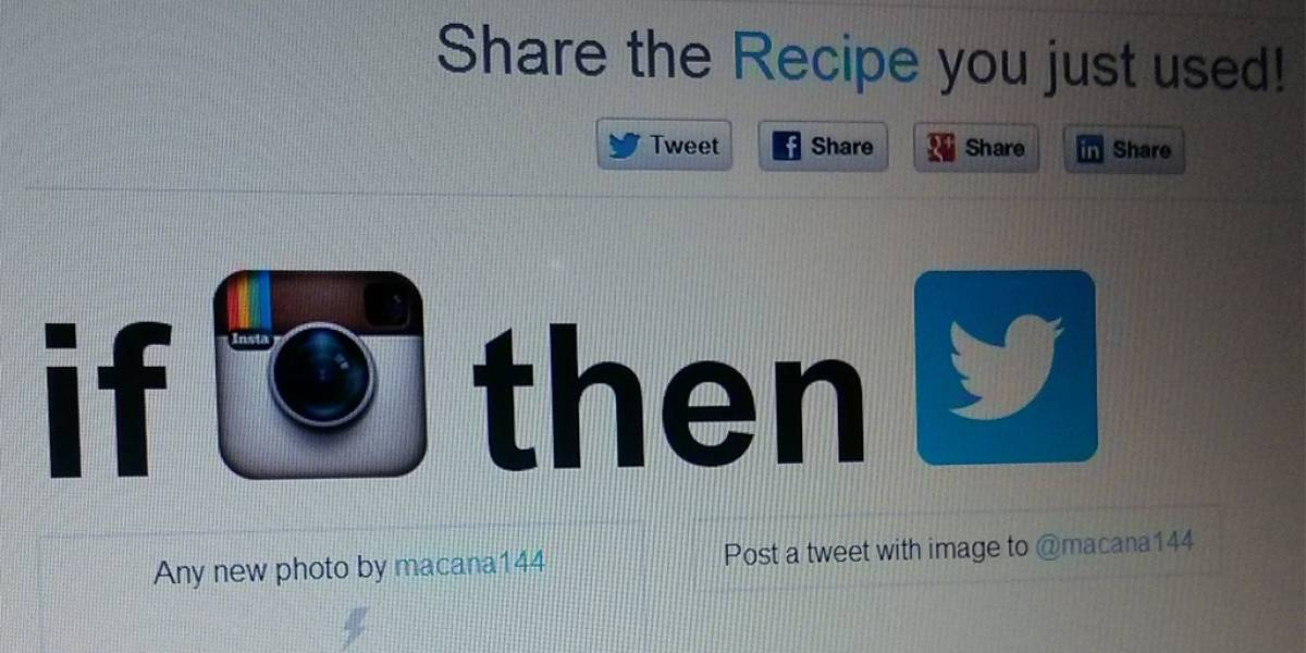 Vuelven las recetas de IFTTT para Twitter