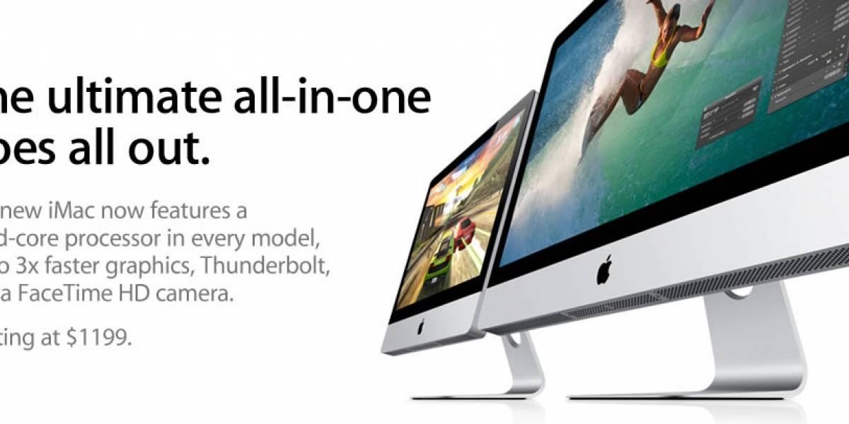 El nuevo iMac con Sandy Bridge y Thunderbolt ya está disponible en la Apple Store