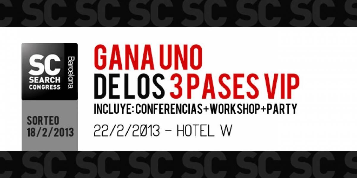 España: Gana 1 de las 3 entradas exclusivas para el SearchCongress Barcelona 2013