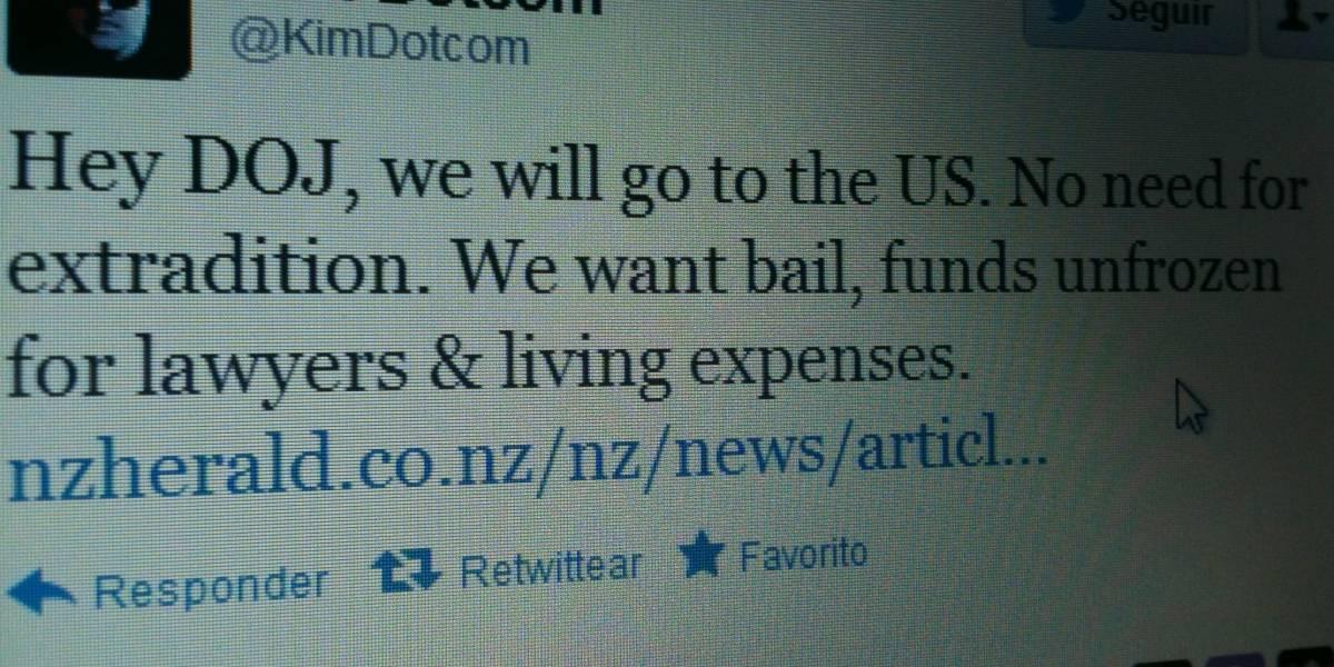 Kim Dotcom ofrece a Estados Unidos extraditarse voluntariamente