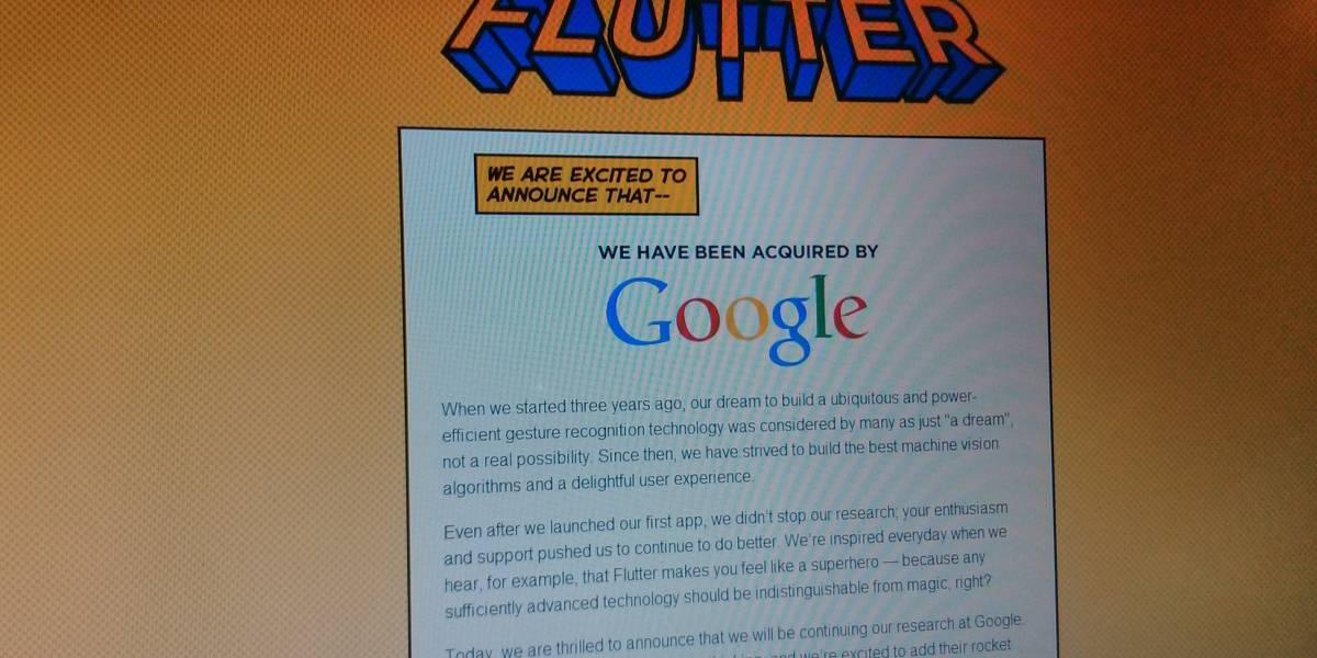 """Google compra Flutter, el """"Kinect de OS X"""""""