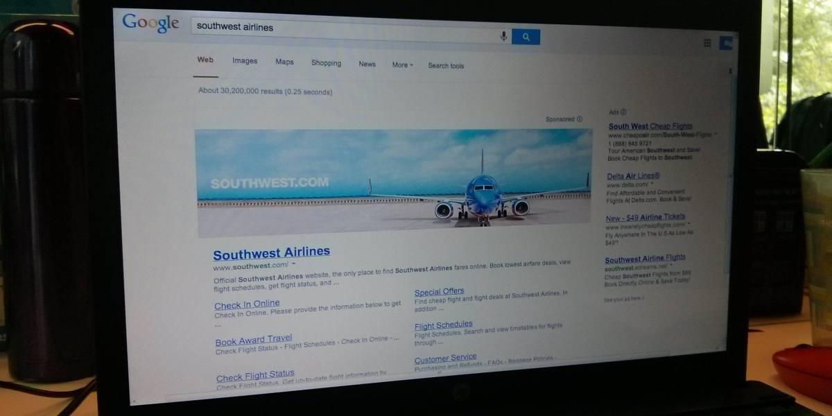 Google concluye pruebas para poner banners en los resultados de búsqueda