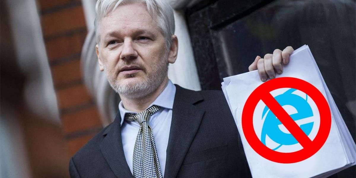 Ecuador reconoce haber intervenido acceso de internet a Julian Assange