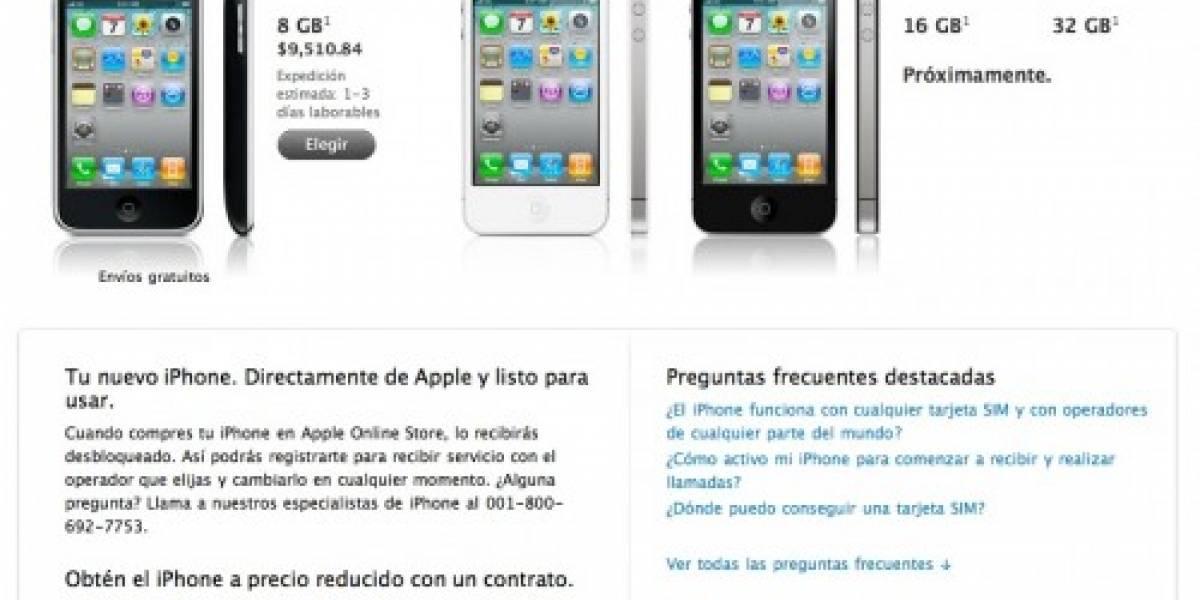 iPhone 4 y 3GS, libres de contrato en México