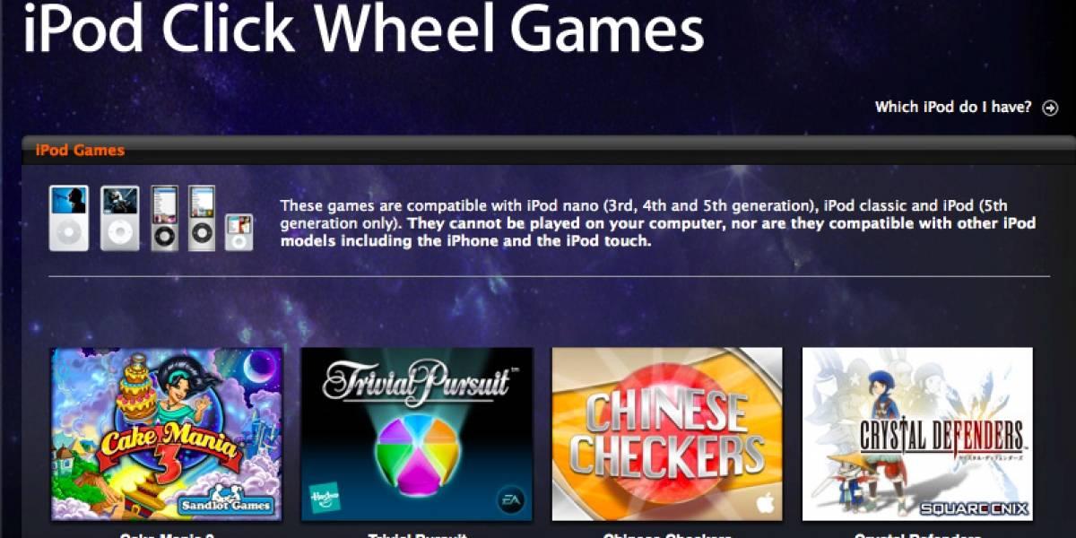 Apple habría retirado los juegos para el iPod Classic de la iTunes Store
