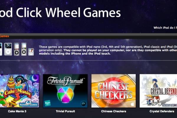 Apple habría retirado los juegos para el iPod Classic de la
