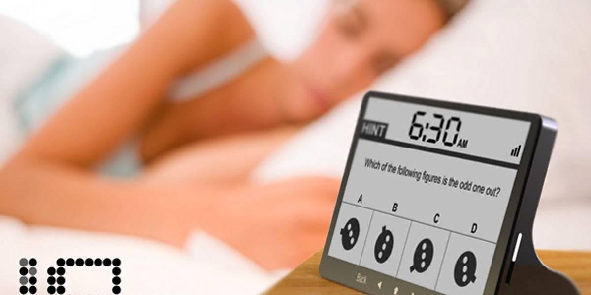 Este despertador no se callará hasta que contestes correctamente su test de CI
