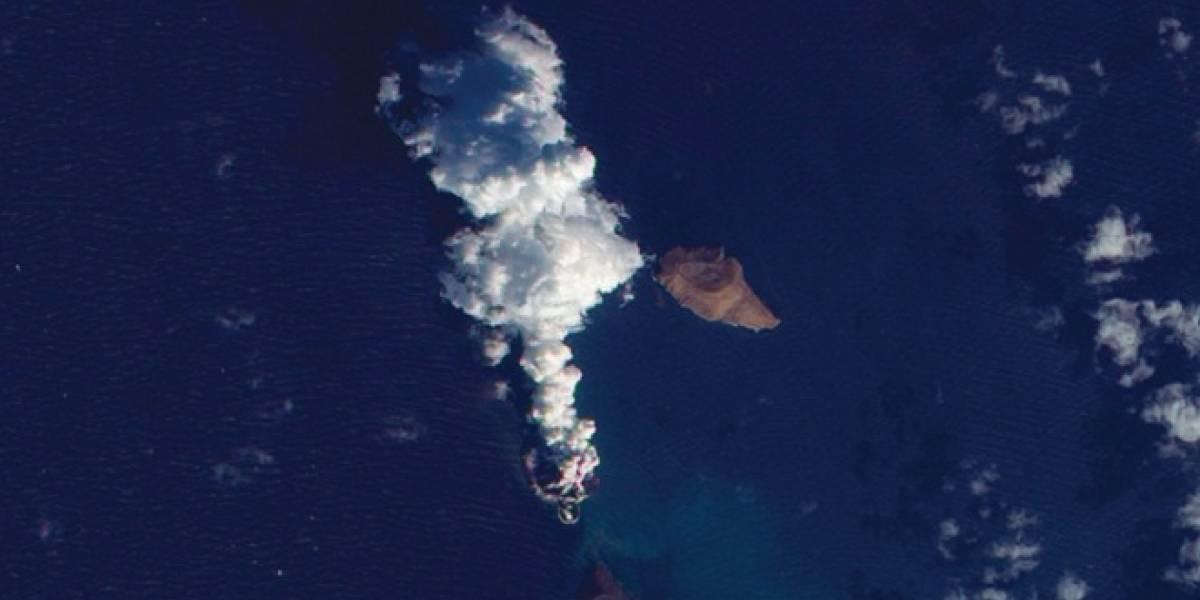 Una nueva isla emergió en medio del Mar Rojo