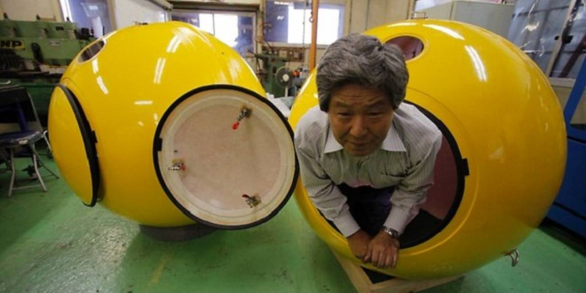 Japoneses crean refugio esférico flotante para sobrevivir a tsunamis