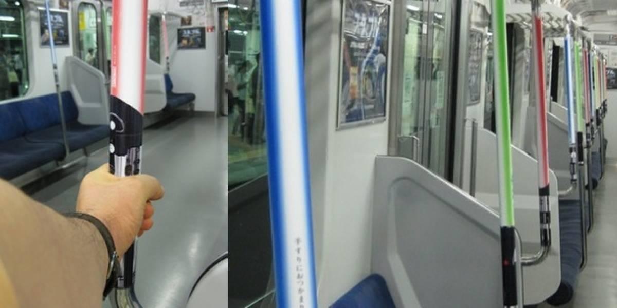 Los sables de luz de Star Wars toman el metro de Tokyo