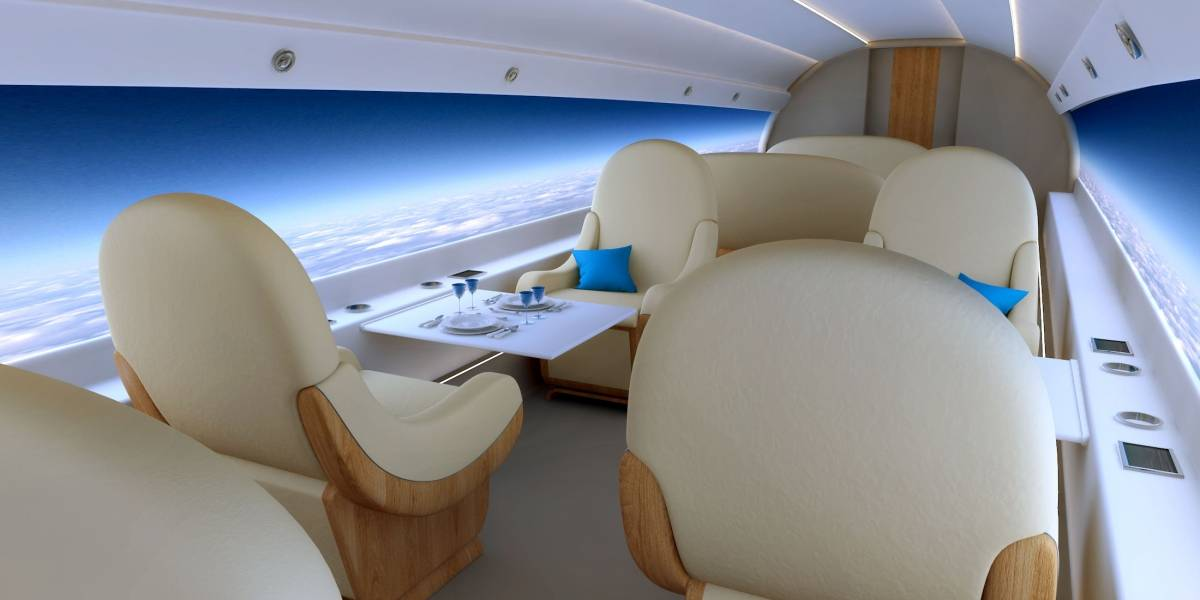 Jet supersónico quiere reemplazar las ventanas por pantallas gigantes