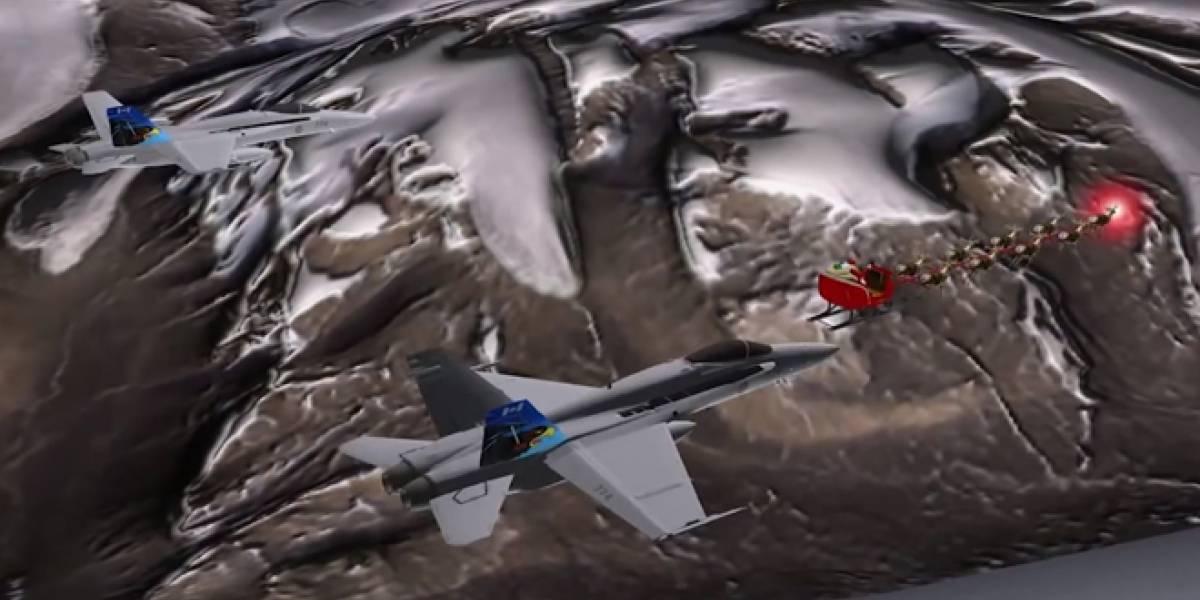 Papá Noel será escoltado por jets con misiles en la versión de NORAD