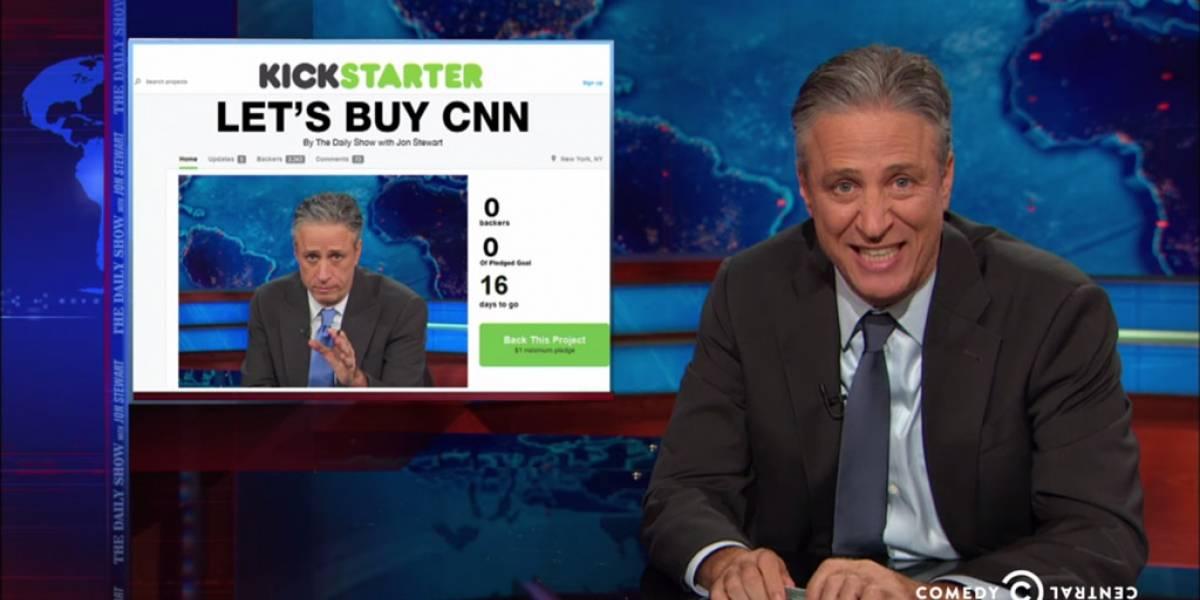"""Jon Stewart anuncia """"campaña"""" de Kickstarter para comprar a la cadena de noticias CNN"""