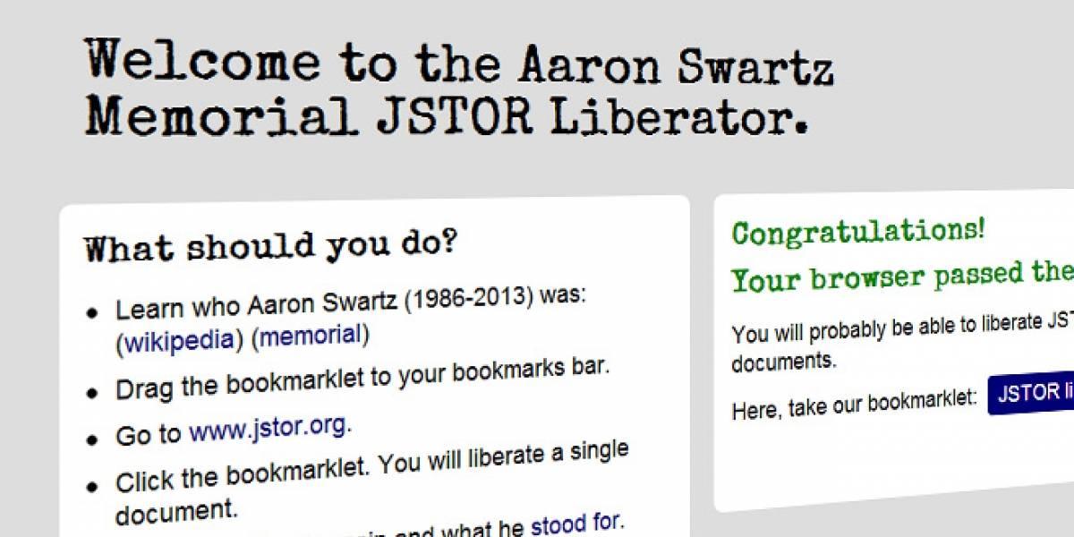 """Aplicación permite """"liberar"""" artículos académicos en memoria de Aaron Swartz"""