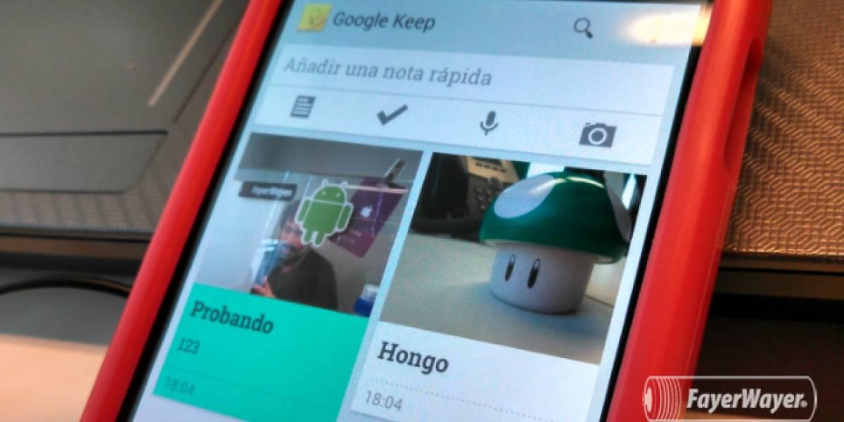 Google anuncia oficialmente Keep, su servicio para listados, notas rápidas y lectura offline
