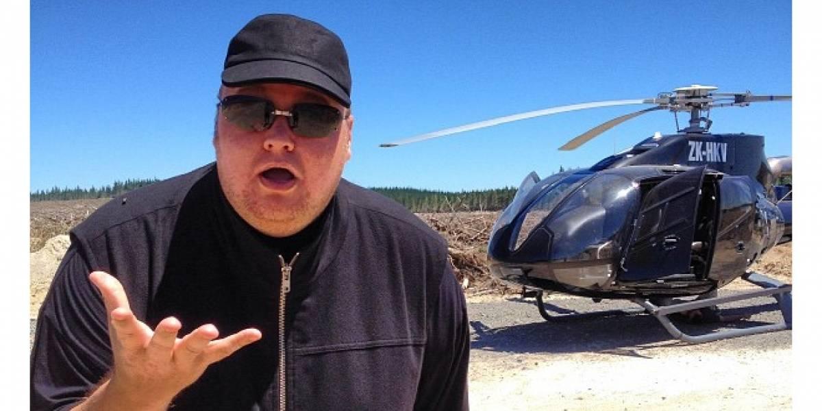 Kim Dotcom hace aterrizaje de emergencia en su helicóptero y lo comparte en Twitter