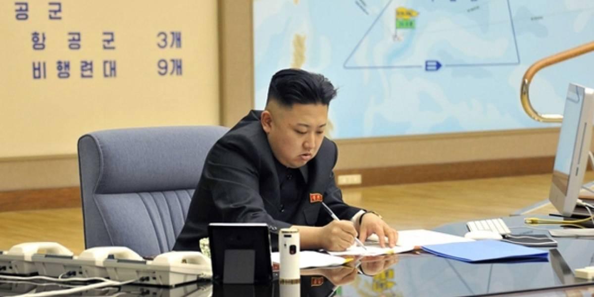 Viralizan imagen de Kim Jong-un utilizando un iMac