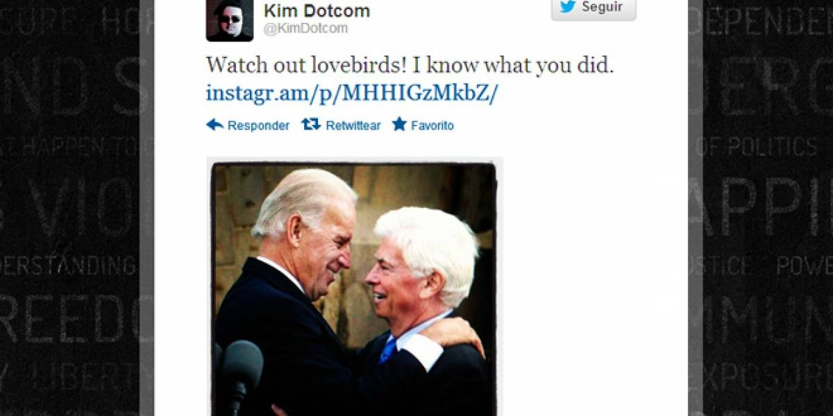 Kim Dotcom acusa al vicepresidente de EE.UU. de ordenar el cierre de MegaUpload