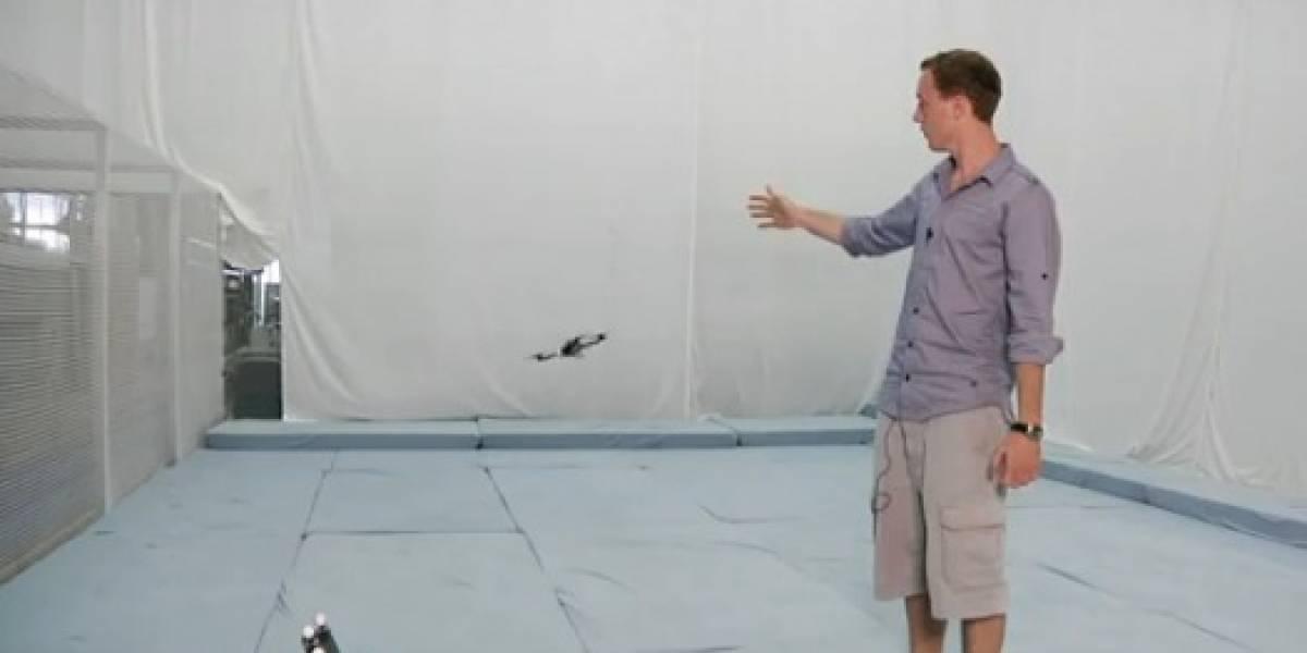 Video: Cuadricóptero controlado con movimientos de manos gracias a un Kinect