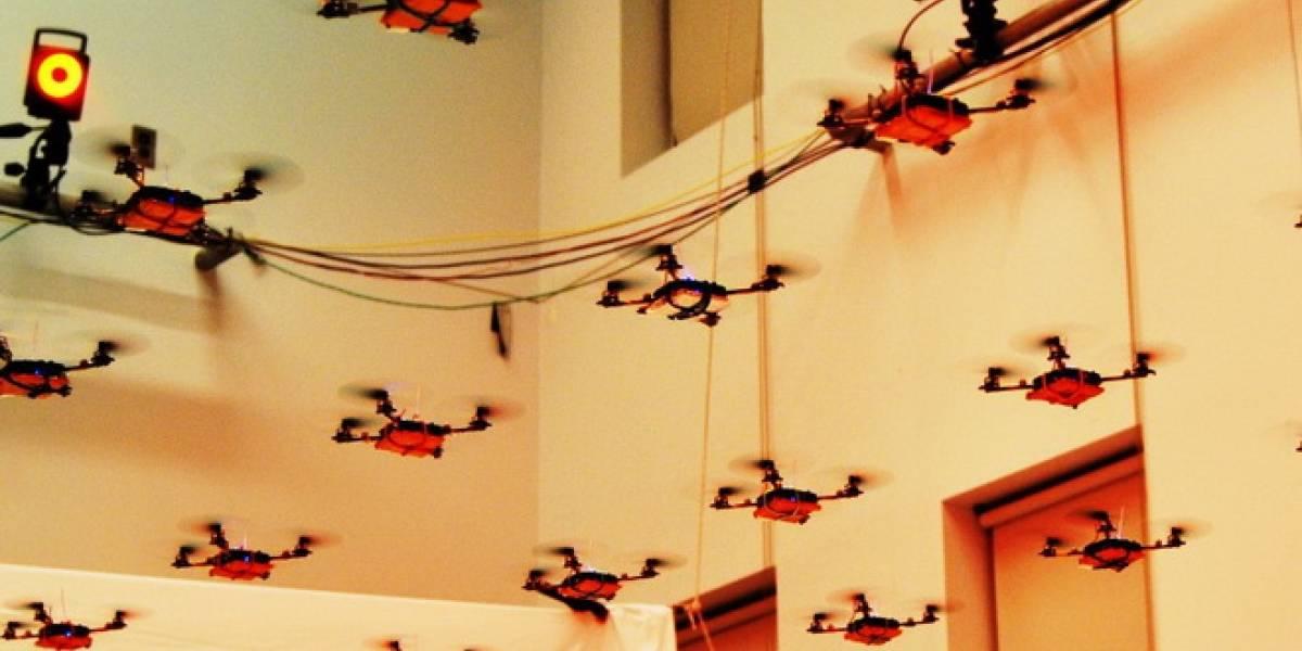 Cuadrópteros llevan a cabo espectáculo de luces en Cannes