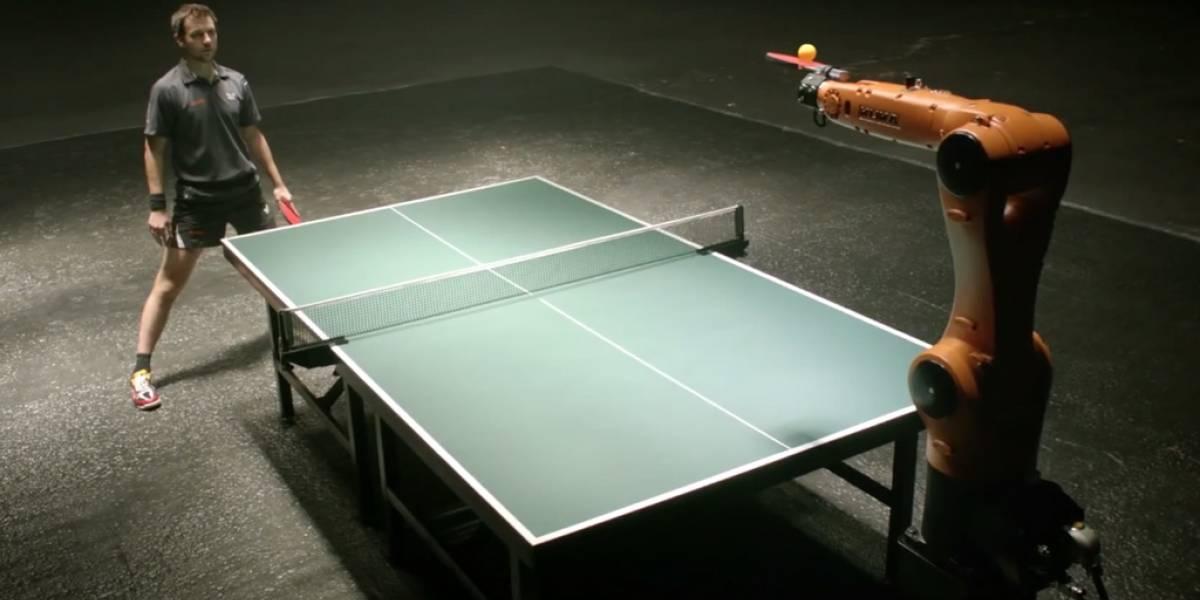 Campeón alemán de Ping Pong jugará partido contra un robot
