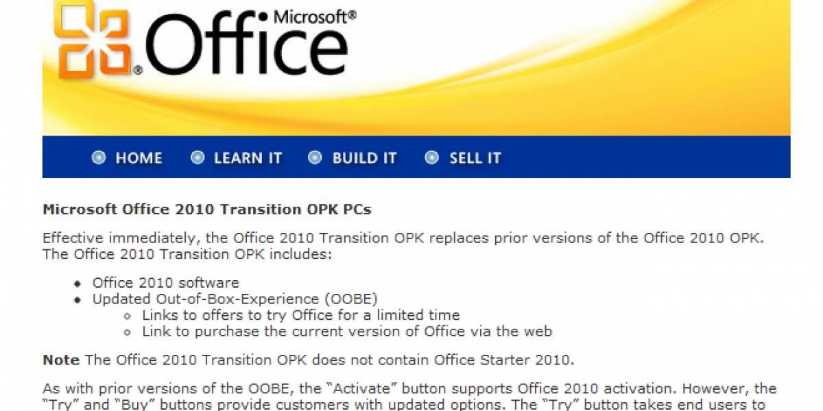 """Microsoft comienza a eliminar la versión """"starter"""" de Office"""