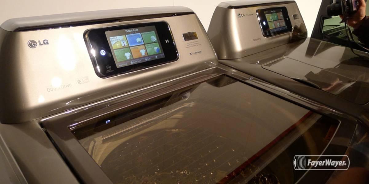 LG trabaja en una lavadora que no usa agua