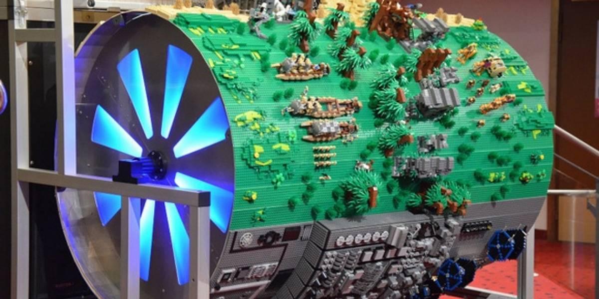 Este barril gigante hecho de Lego toca la música de Star Wars