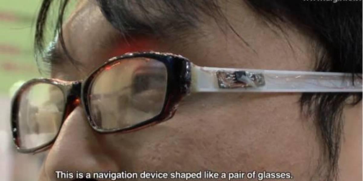 Prototipo de navegación personal en forma de anteojos con luces