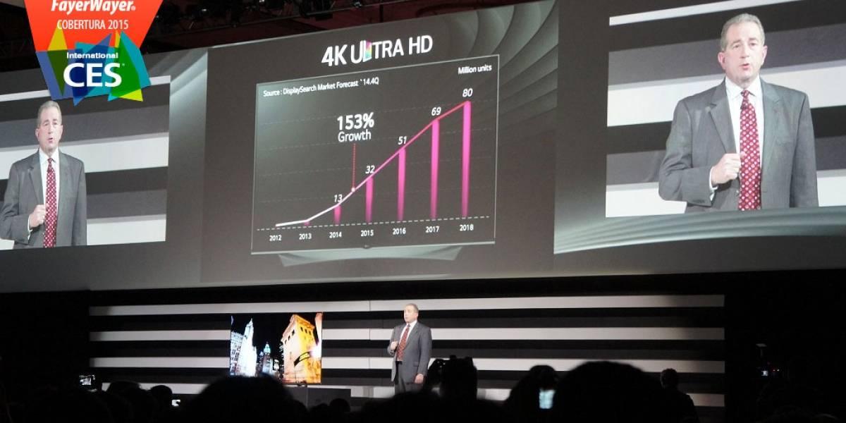 LG presenta 5 televisores OLED con 4K curvos y planos #CES2015