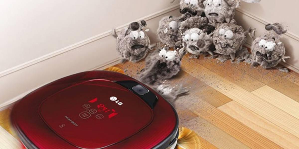 Olvídate de limpiar con el robot aspirador LG Hombot Square