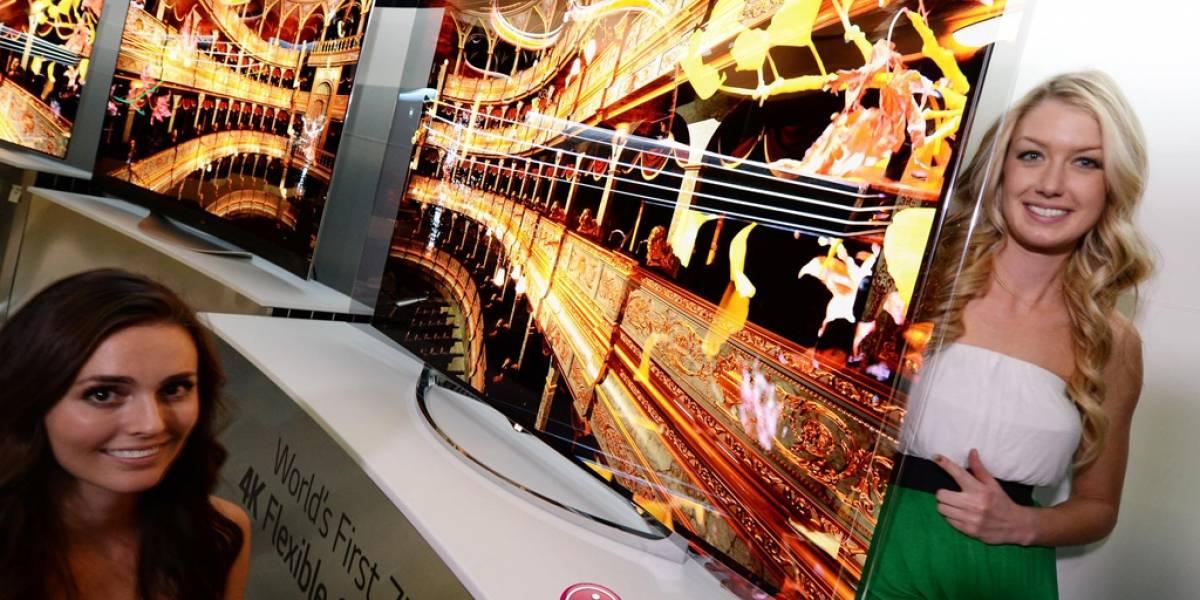 LG muestra TV OLED flexible #CES2014