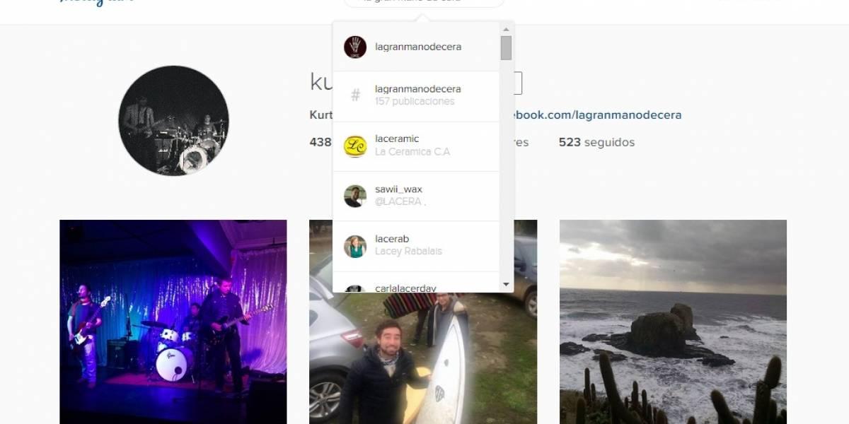 Instagram agrega buscador a su versión web